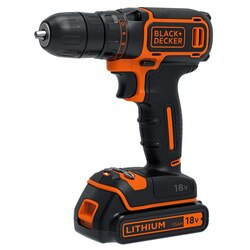 Black and Decker - 18V Lithiumion Drill Driver  400mA charger  1 battery  Kitbox - BDCDC18K