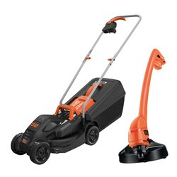 Black and Decker - 32cm Electric Rotary Mower 1000W with GL250 Strimmer Grass Trimmer - BEMW351GL2