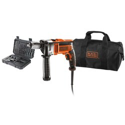 Black and Decker - 750W Corded Hammer Drill with 32 accessories and storage bag - KR705S32
